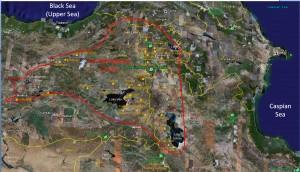 The Boundaries of Urartu/Ararat Map