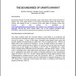 The Boundaries of Urartu/Ararat Paper